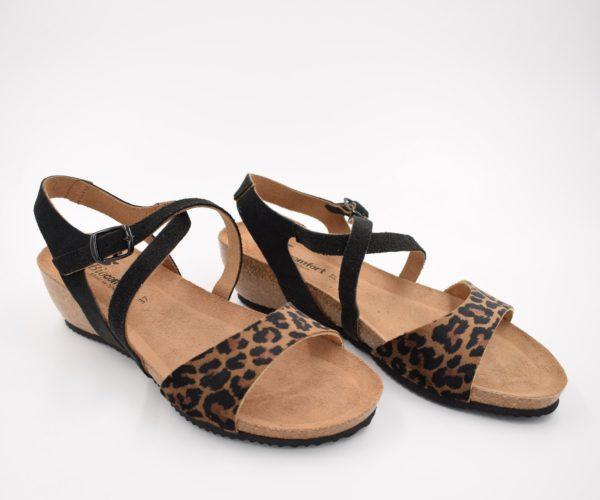 Sandalia-Bio-Señora-Sunny-Leopardo-Tabaco