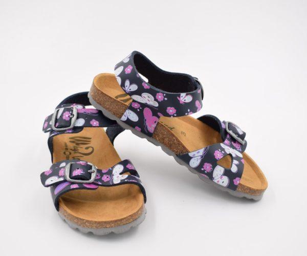Sandalia-Bio-Niña-Colors-Mariposas