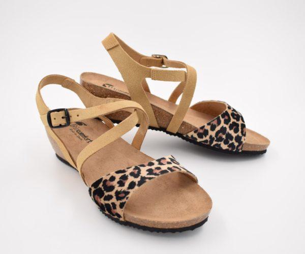 Sandalia-Bio-Señora-Sunny-Leopardo-Camel