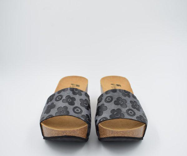 sandalia-bio-señora-rohe-negro-flores